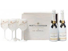 Moët & Chandon ICE Imperial v dárkové krabici se skleničkami, 2x0,75l