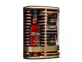 Ron Zacapa Centenario, 23 YO + 2 skleničky, 2015, Dřevěný Box, 0,7l