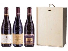 Sada 3 vín - Chateauneuf-du-Pape region, 3x0,75l