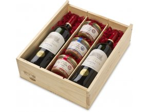 Sada France de Luxe Bordeaux 2x0,75l + 3x180g