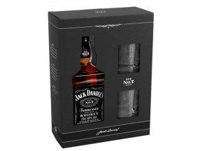 Jack Daniel´s No.7 + 2x sklenice, Gift Box, 0,7l