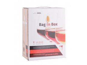Merlot rosé, bag in box, polosladké, Vajbar, 5l