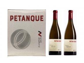 Dárková sada 2 vín řady Petanque + 2 skleničky, Nové Vinařství, 2x0,75l