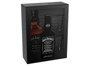 Jack Daniel´s No.7  Double Tin + 2x sklenice, Plechový Box, 0,7l