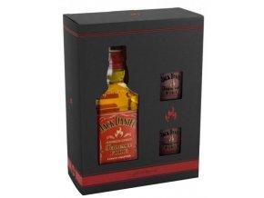 Jack Daniel´s Fire + 2 skleničky, Gift Box, 0,7l