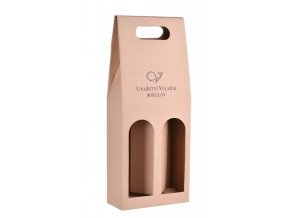 Papírová krabička na 2 lahve vinařství Volařík