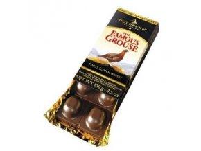 Goldkenn mléčná čokoláda plněná whisky Famous Grouse, 100g