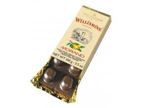 Goldkenn mléčná čokoláda plněná hruškovým likérem Morand Williamine, 100g
