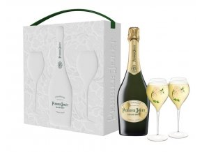 Perrier Jouët Grand Brut, 0,75l - dárkový box + 2 skleničky
