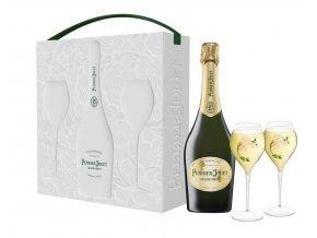 Perrier Jouët Grand Brut, dárkový box + 2 skleničky, 0,75l