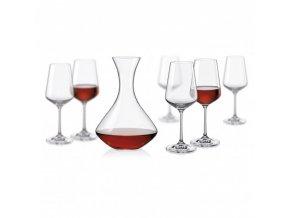 Sada sklenic a karafa - Sandra wine set, Crystalex, 7ks