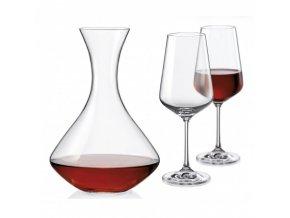 Sada sklenic a karafa - Sandra wine set, Crystalex, 3ks