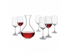 Sada sklenic a karafa - Viola wine set, Crystalex, 7ks