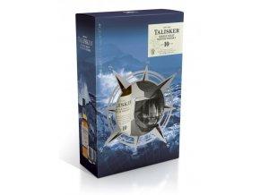 Talisker 10 YO + 2 sklenice, Gift Box, 0,7l