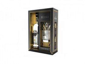 Beluga Noble + sklenice, Gift Box, 0,7l