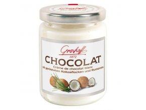 Bílý čokoládový krém s kokosem a rumovým aroma, sklo, 250g