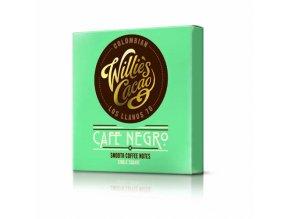 Čokoláda Willie's Colombian CAFÉ NEGRO, hořká s kávou 70%, 50g