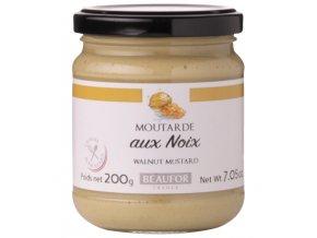 Francouzská hořčice s VLAŠSKÝMI OŘECHY (Moutarde aux noix), 200g