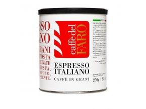 Zrnková káva CAFFE DEL FARO - ESPRESSO ITALIANO, plech, 250g