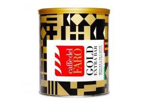 Mletá káva CAFFE DEL FARO - Gold extra bar, plech, 250g