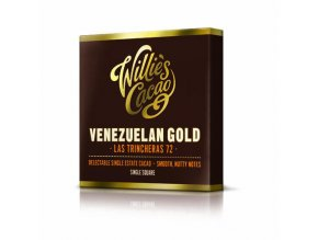 Čokoláda Willie's Venezuelan Gold, Las Trincheras hořká 72%, 50g