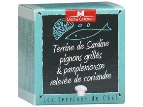 Terina ze sardinek s opekanymi piniovými oříšky, grapefruitem a koriandrem, 65g