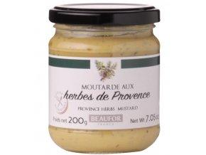Franc.hořčice s PROVENSÁLKÝM KOŘENÍM (Moutarde aux herbes de Provence), 200g