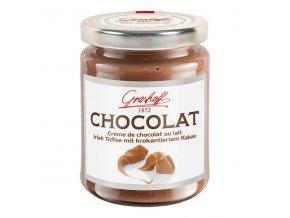 Mléčný čokoládový krém s kakaovými křupinkami a vůní karamelu, sklo, 250g