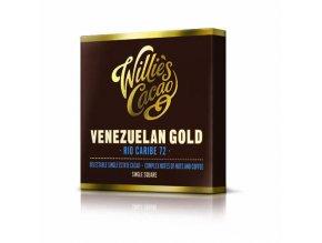 Čokoláda Willie's Venezuelan Gold, Rio Caribe hořká 72%, 50g