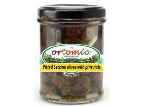 Olivy Leccino bez pecky s piniovými oříšky a bazalkou, 212ml