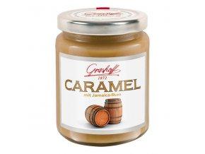 Karamelový krém s 73% jamajským rumem, sklo, 250g