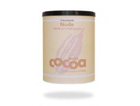 "BIO rozpustná čokoláda ""NUDE"" s hořkou čokoládou a vanilkou, 250g plechová dóza, Fairtrade"