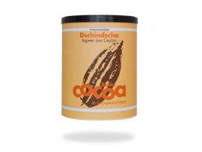 """BIO rozpustná čokoláda """"DSCHINDSCHA"""" s jemnou chutí zázvoru, 250g plechová dóza, Fairtrade"""