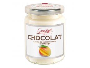 Bílý čokoládový krém s mangem, sklo, 250g