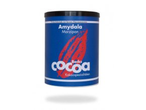 "BIO rozpustná čokoláda ""AMYDALA"" s marcipánem, 250g plechová dóza, Fairtrade"