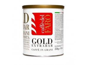 Zrnková káva CAFFE DEL FARO - Gold extra bar, plech, 250g