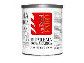 Zrnková káva CAFFE DEL FARO - Supreme 100% arabika, plech, 250g