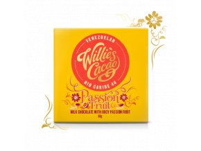 Čokoláda Willie's Passion Fruit, mléčná, 50g