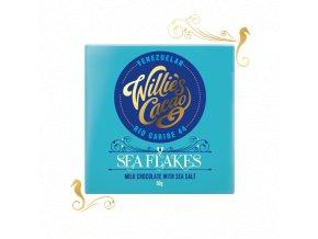 Čokoláda Willie's mléčná se solí SEA FLAKES, Rio Caribe 44%, 50g