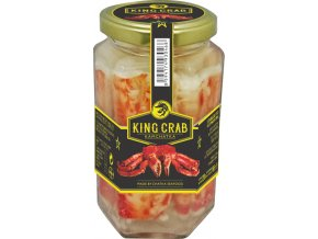 KING CRAB 100% maso z noh 310g/190g, sklo
