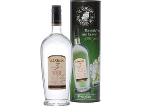 El Dorado Rum 3 YO White, dárkové balení se skleničkou, 0,7l