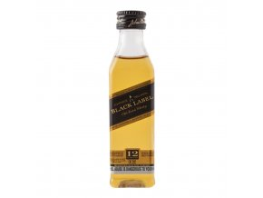 Johnnie Walker Black Label, miniatura, 0,05l