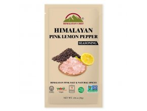 """Hymalayan Chef - Himalájská růžová sůl """"CITRON A ČERNÝ PEPŘ"""", 30g"""