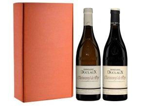 Sada 2 vín - Châteauneuf du Pape - Domaine Duclaux, Jerome Quiot, 2x0,75l