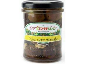 Marinováné černé olivy s peckou, 212 ml