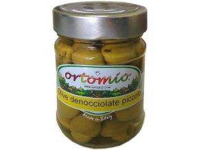 Zelené olivy bez pecky ve slaném nálevu, 212ml sklo (03149)