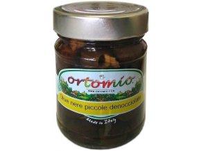Černé olivy bez pecky ve slaném nálevu, 212ml sklo (07249)