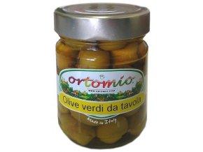 Zelené olivy s peckou ve slaném nálevu, 212ml sklo (02049)