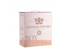 Povero Bag in Box červené Barbera, 5l