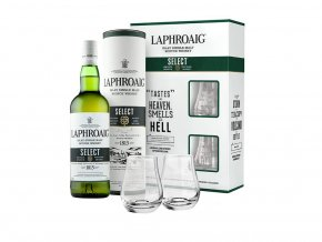 Laphroaig whisky Select + 2 skleničky, Gift, Box, 40%,, 0,7l1
